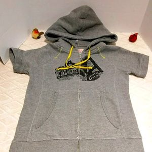 Volcom french terry lined short sleeve hoodie
